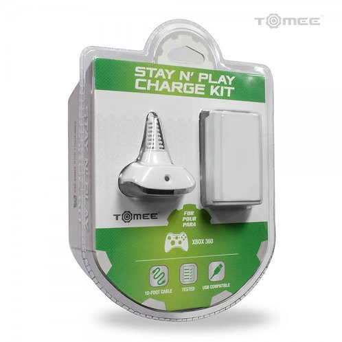 XBOX360 Hyperkin Stay N Play Charge Kit (White)