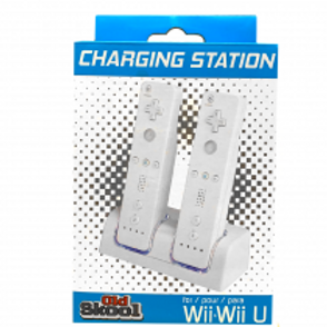 Wii Dual Charging Station w/ 2 Rechargeable Batteries & LED lights for Wii Remot