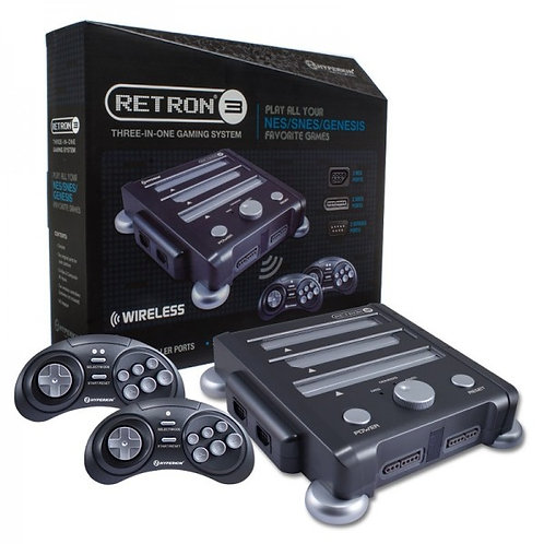 RetroN 3 Gaming Console  Edition for SNES/ Genesis/ NES (Onyx Black)
