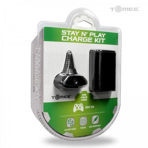 XBOX 360 Stay N Play Charge Kit (Black)