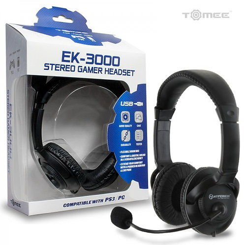 PS3 Hyperkin EK-3000 Stereo Gamer Headset