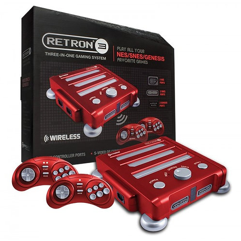 RetroN 3 Gaming Console Edition for SNES/ Genesis/ NES (Laser Red)