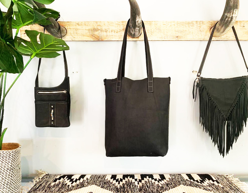 Leather Bags: Black