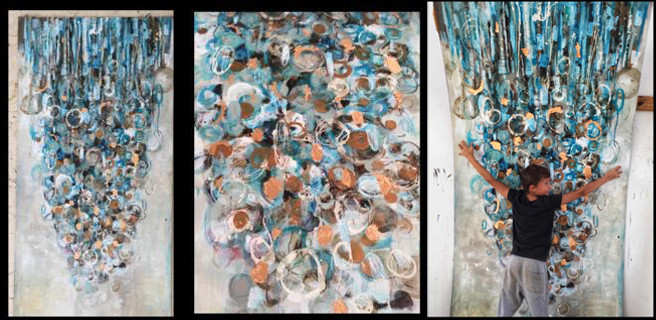 Chandelier – Acrylic and Copper