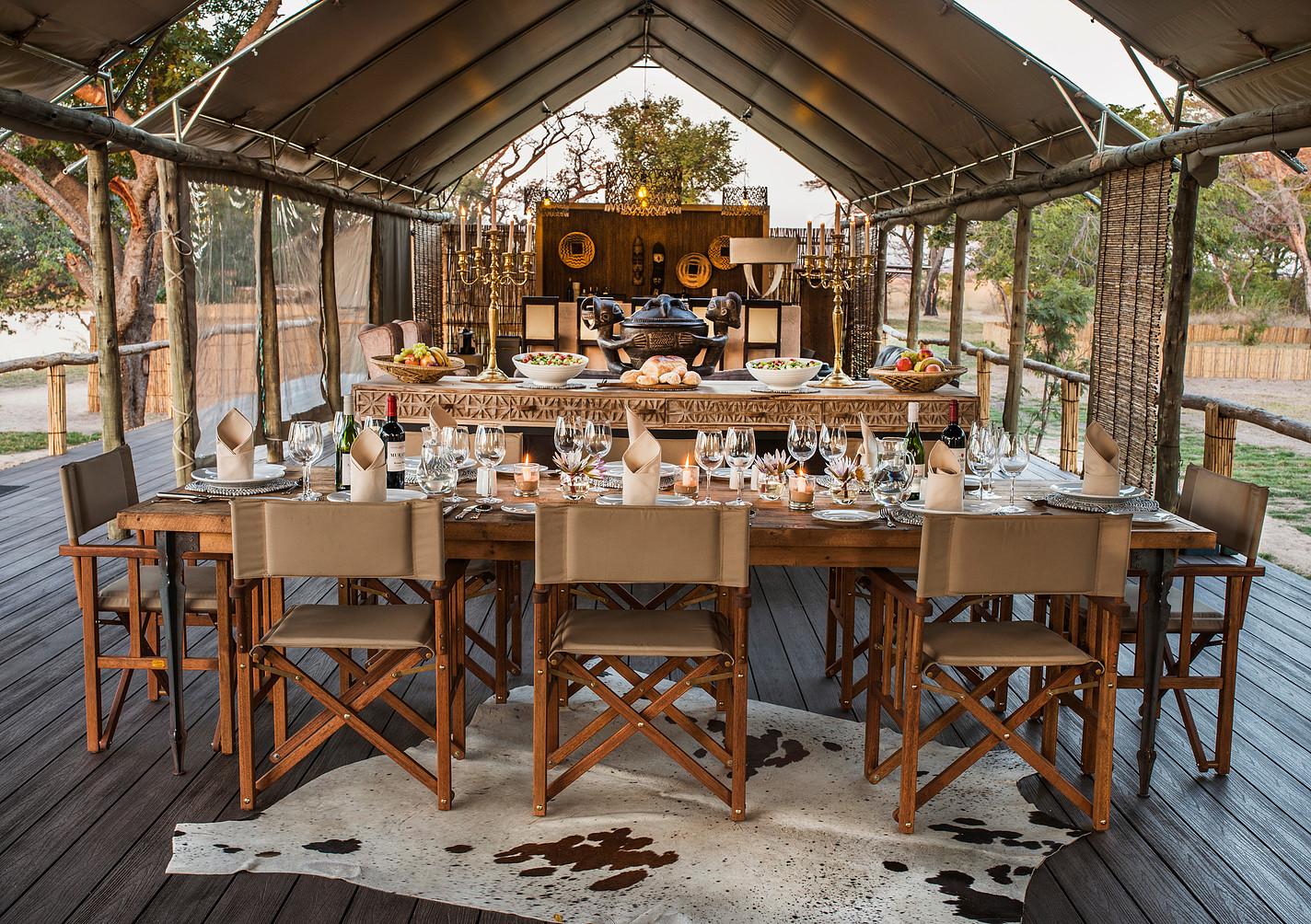 Nkala Lodge Dining Area