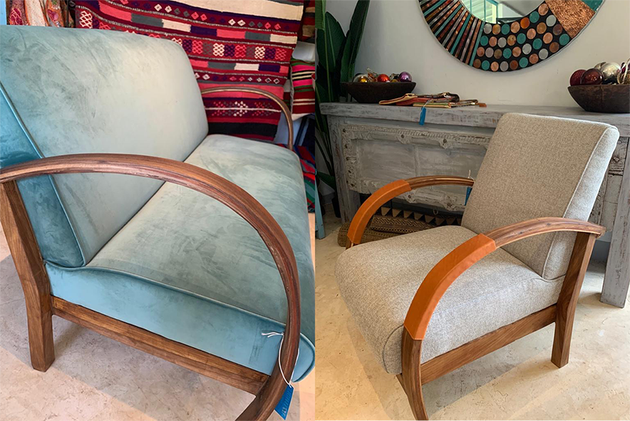 Moroccan Two-Seater and Chair