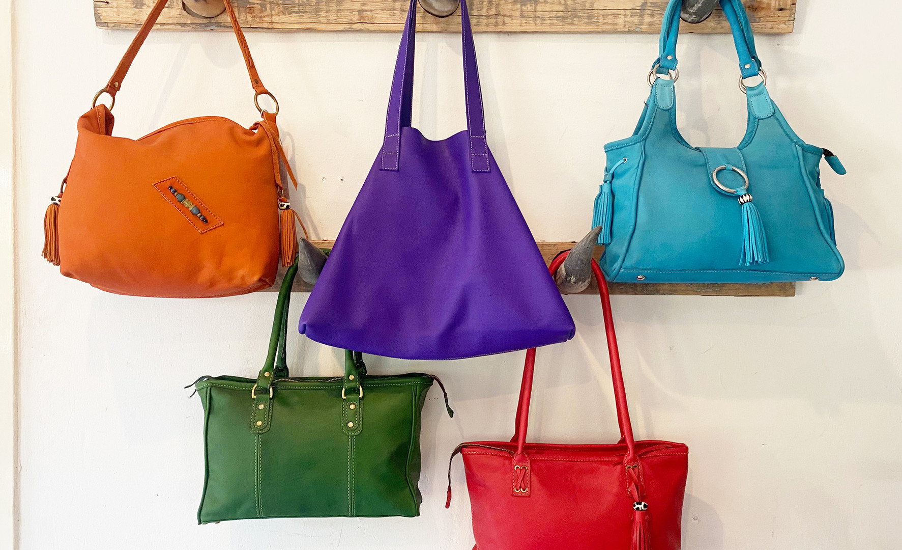 Leather Bags: Various Colours