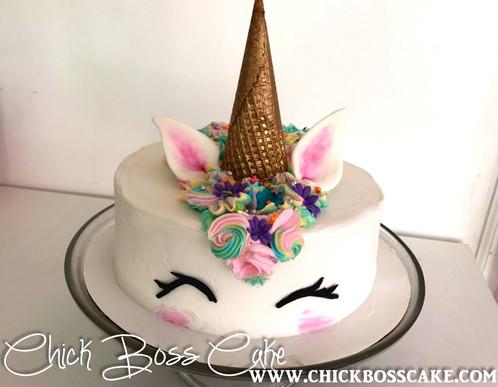 Sprinkles the Unicorn Chick Boss Cake Custom Cakes London