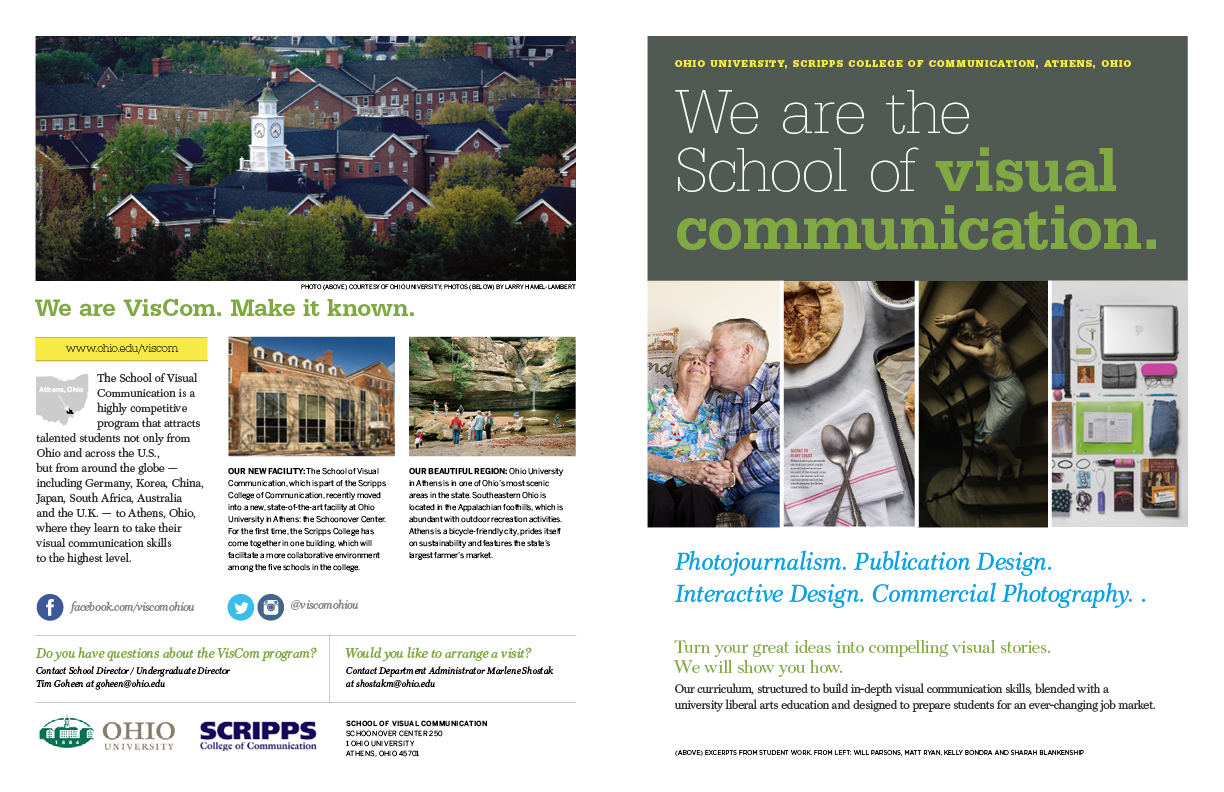 Ohio University Viscom Brochure