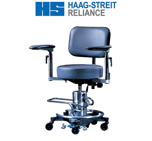 Reliance 558 Hydraulic Surgical Stool with Back