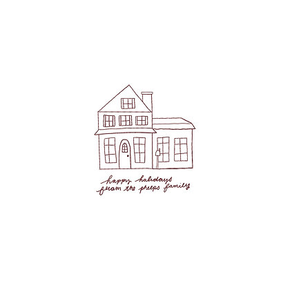 Custom Holiday House Illustrations