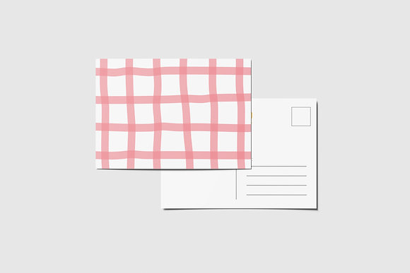 Checkered Postcards