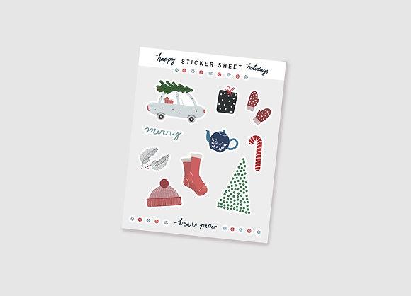 Happy Holidays Sticker Sheet