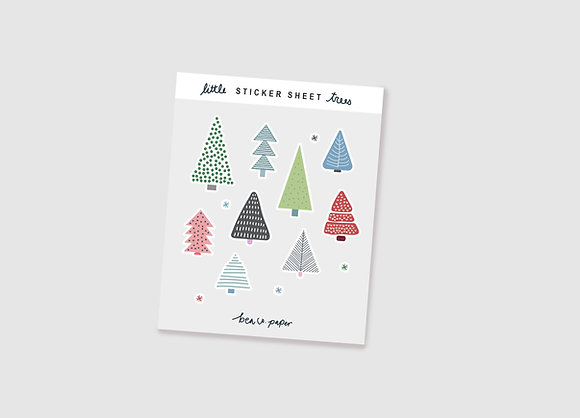 Little Trees Sticker Sheet