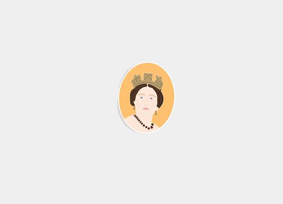 Queen Victoria Sticker