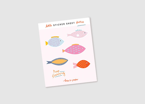 Little Fishies Sticker Sheet