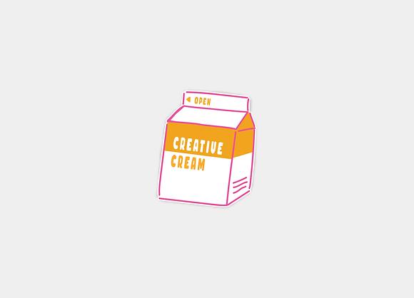 Creative Cream Sticker