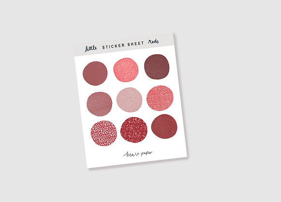 Little Reds Sticker Sheet