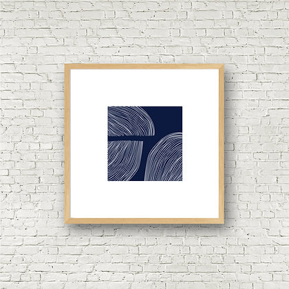 Fine Art Print | Blue Swirls