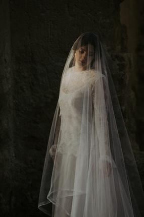 Silk tulle veil bridal inspiration
