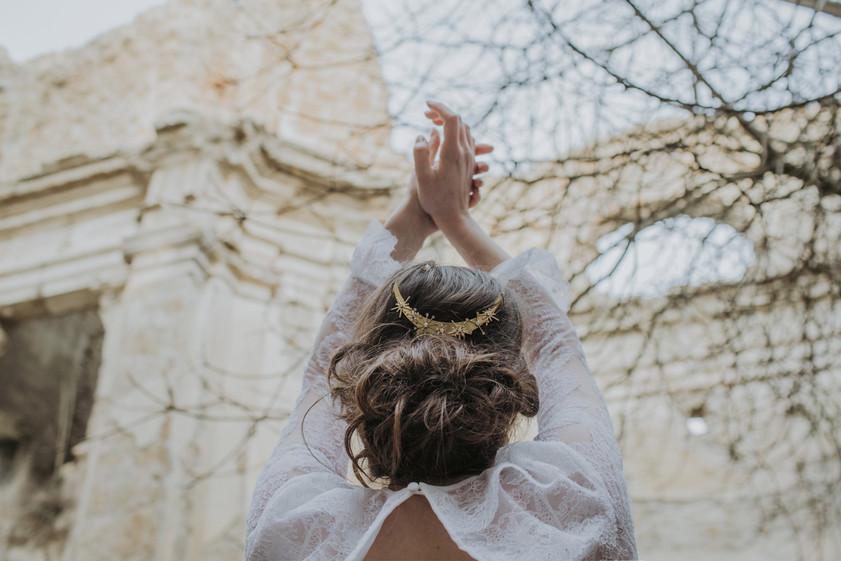 Pleiadi bridal hair comb