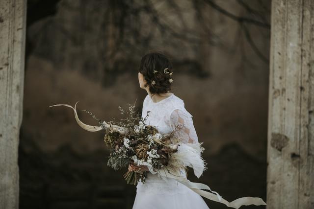 Moon and stars bridal hair pins