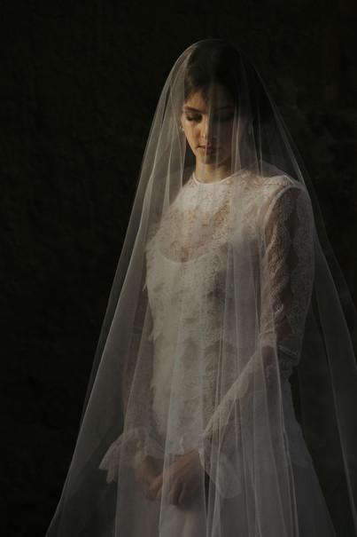 Silk tulle veil inspiration