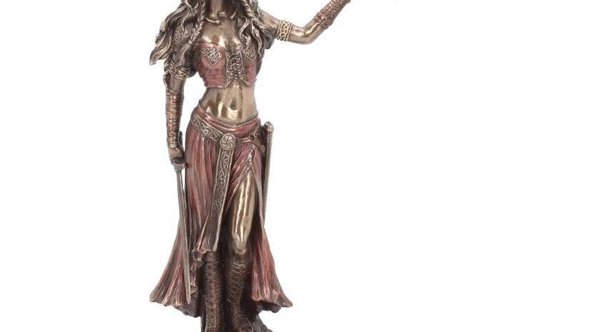 Morrigan and Crow Figurine Bronze Ornament