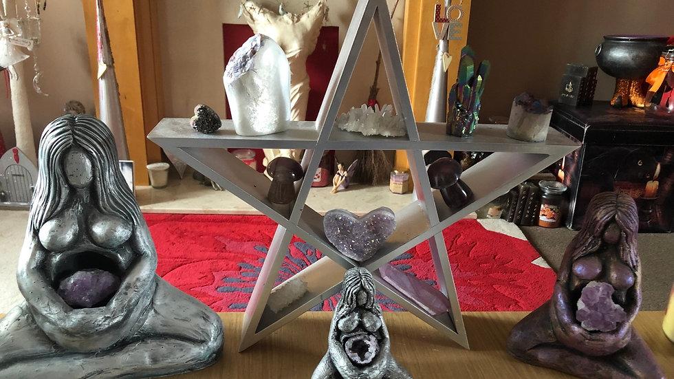 Silver Pentagram Shelf