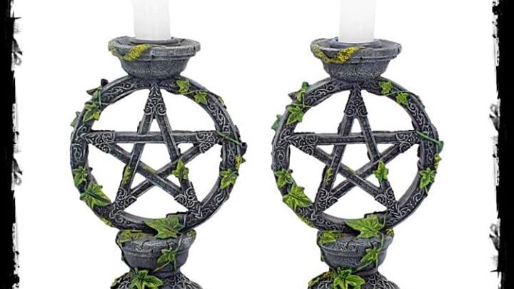 Pair of Pentacle Candlesticks