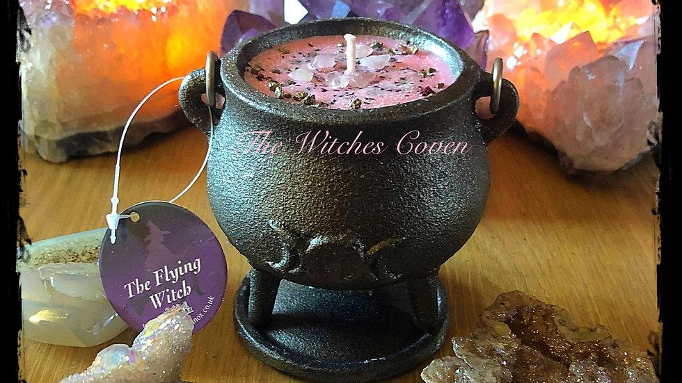 Candy Floss Cast Iron Cauldron Candle