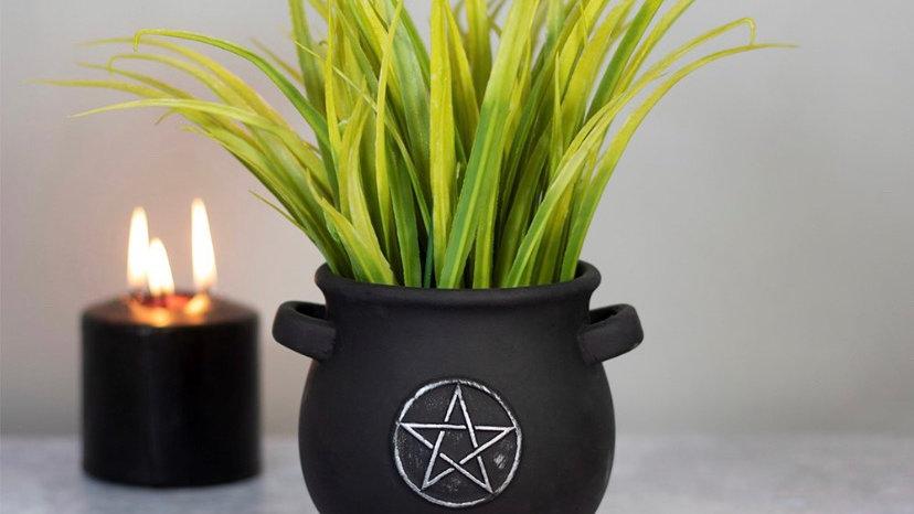 Cauldron Pentacle Plant Pot