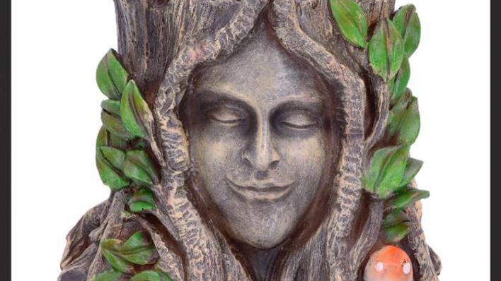 Oak Goddess Resin Pot