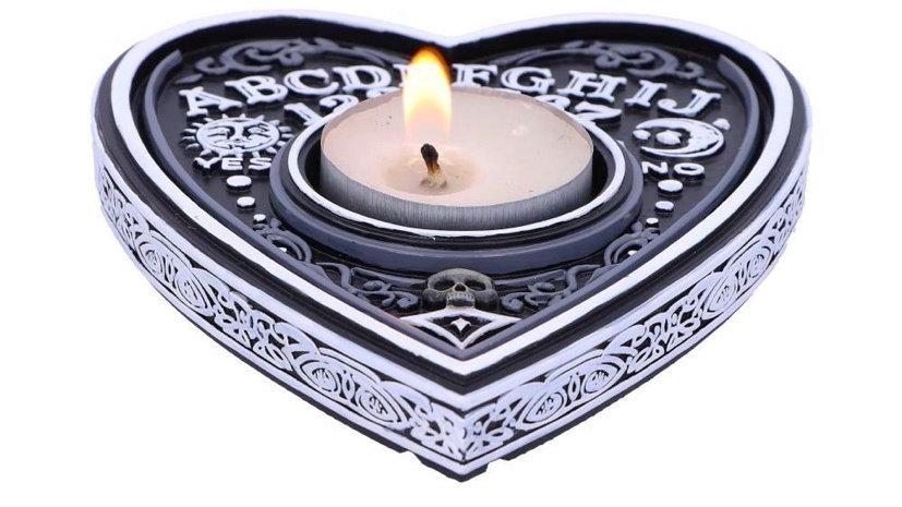 Black and White Spirit Board Tea Light Holder