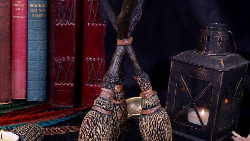 Triple Broomstick Tealight Holder