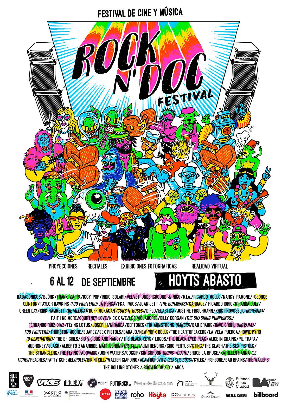 Poster Rock N Doc Festival V7 100 x 70 c