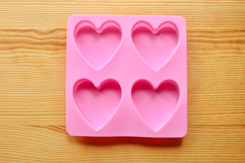 Shiny Heart Flexible Silicone Mold