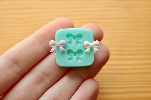 Tiny Bows #2 Silicone Mold (Green)