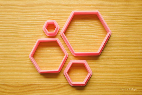 4pc Hexagons Clay Cutters Set