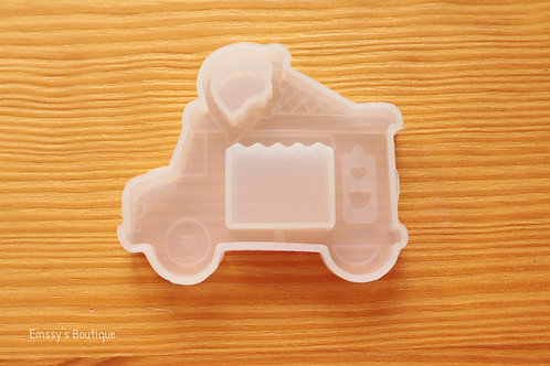 Clear Ice Cream Truck Shaker Silicone Mold