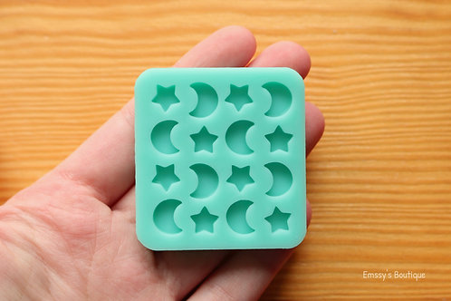Tiny Moons and Stars Silicone Mold (Sheet)