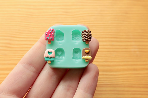 Miniature Ice Creams Silicone Mold (Green)