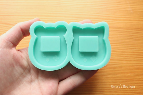 Bear/Kitty Game Consoles (Backed Shaker) Silicone Mold