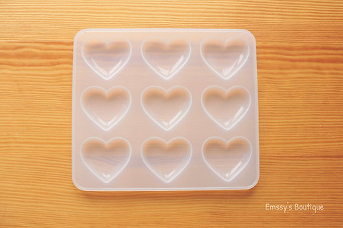 Clear Shiny Puffy Heart Silicone Mold