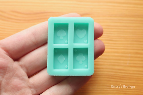 Mini Playing Cards Silicone Mold