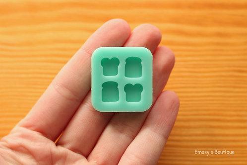 Tiny Bread Toast Slice Silicone Mold