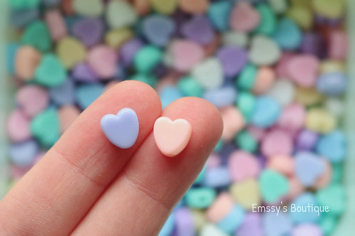 8mm Pastel Heart Beads