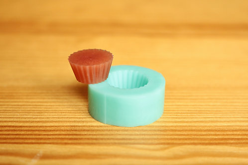 18mm Cupcake Base Silicone Mold (Green)