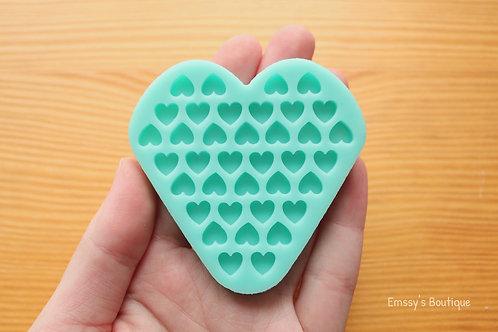7mm Tiny Hearts Silicone Mold