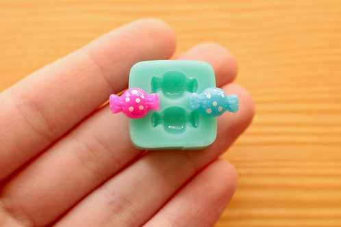Mini Wrapped Candy Silicone Mold (Green)